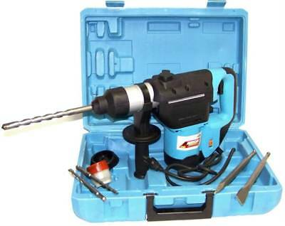 "1-1/2"" ELECTRIC ROTARY HAMMER DRILL WITH BITS SDS PLUS ROTO TOOL VARIABLE SPEED"