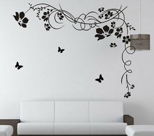vine butterflies wall removable art vinyl decal decor home