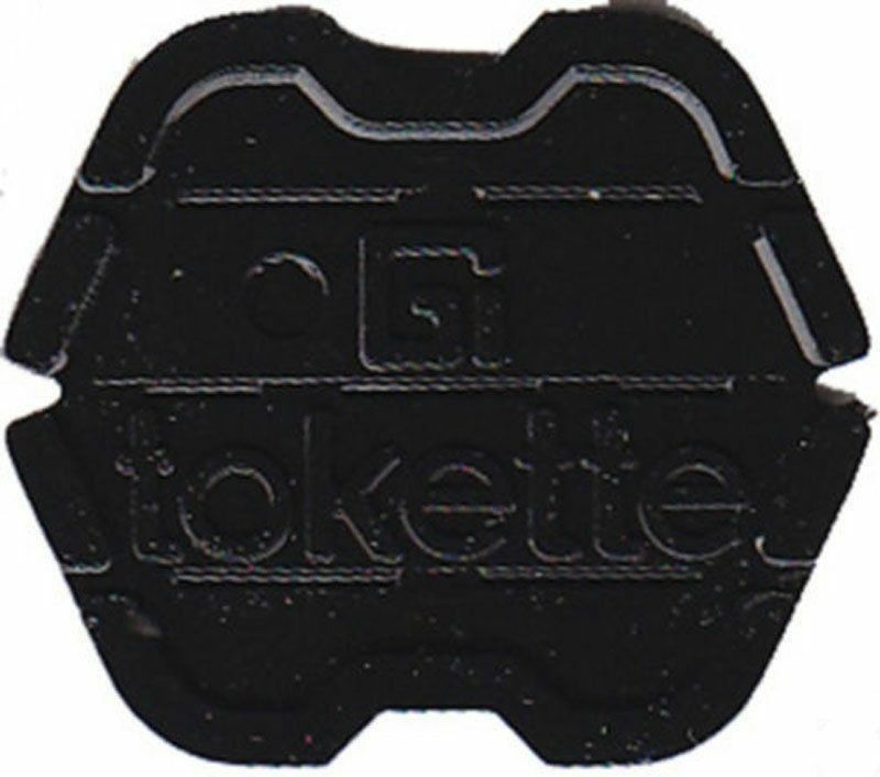 100 Black Tokettes GI Greenwald Laundry Tokens - Type 1 Tokette - New