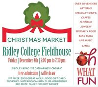 Ridley College Christmas Market - FREE ADMISSION