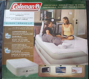 Coleman Airbed with built-in Electric Pump (inflatable mattress)