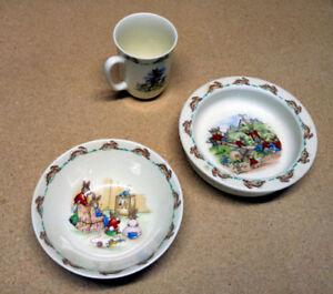 Bunnykins bowl, dish, plate