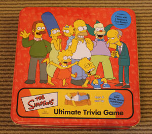 Simpsons Ultimate Trivia Game –In the Tin Box