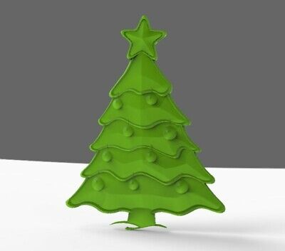 Stl Cnc For 3d Milling Cnc File Christmas Tree Design
