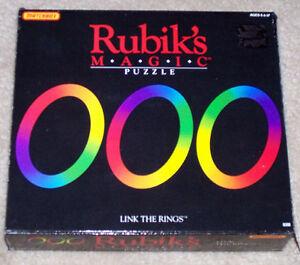 Vintage 1986 Rubik's Magic Puzzle Link The Rings London Ontario image 1