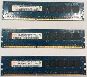 Kit de 3 barrette de mémoire 2 Gb DDR3 ECC 1333 MHz NEUF