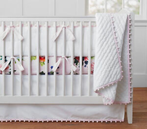Pottery Barn crib set.