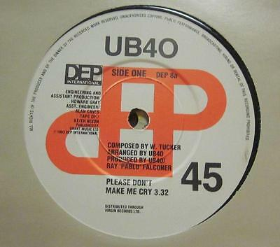 "UB40(7"" Vinyl)Please Don't Make Me Cry-DEP 8-65-Ex/Ex"