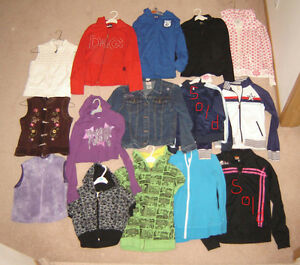 Girls Hoodies and Tops - sz 10, 12, 14