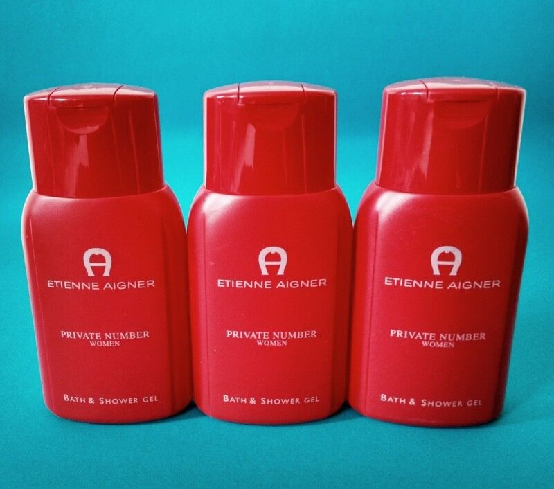 Etienne Aigner PRIVATE NUMBER Woman Bath & Shower Gel Duschgel 3 x 250 ml