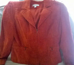 NEW Concepts Ladies Blazer - size 14 - Red orange