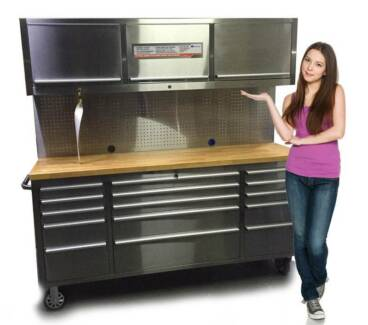 1.8High Quality Whole Stainless Steel Work Bench Tool Chest Combo