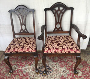 Elegant Antique 7pc Dining Set by Malcolm, newly refinished