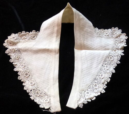 Antique Vintage Linen and IRISH LACE Collar *From MOVIE STAR ESTATE*