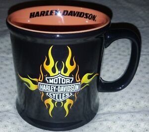 Harley Davidson Mug  Never used great collectable Black Orange