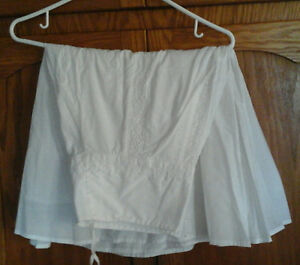 lined cotton skirt
