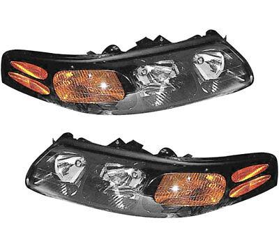Headlamp Bulb Set (New Pair Set Headlight Headlamp Assembly w/Bulb 00-03 Pontiac Bonneville )