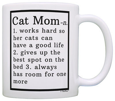Cat Lover Gifts Best Cat Mom Definition Cat Gag Gifts Crazy Coffee Mug Tea Cup