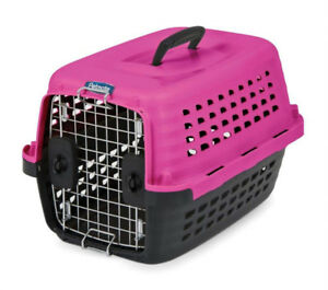 Petmate carrier / cage / kennel, pink, small