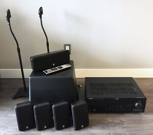 Yamaha 7.1 Receiver with 6pc. Boston Acoustics Speaker Package