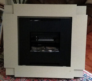 Dimplex Electric Fireplace heater wall mount mantle condo size 1