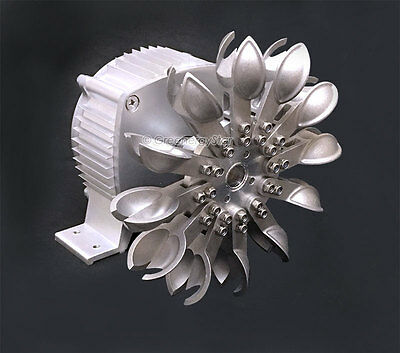 WindZilla PMA Pelton Water Wheel 17mm Adapter Micro Hydro Generator Turbine S