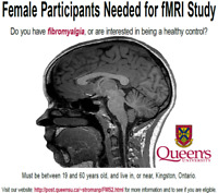 Female Participants Needed for fMRI Study at Queen's University