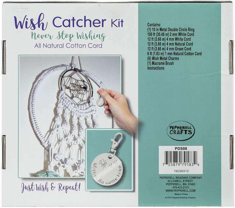 Pepperell Designer Macrame Kit Wish Catcher 725879791834