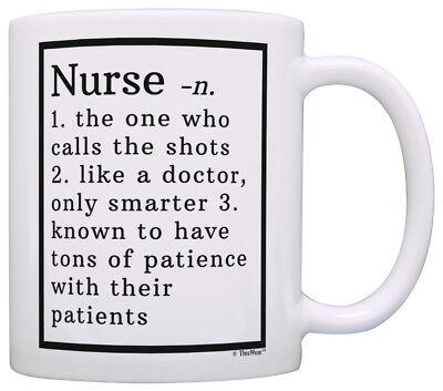Graduation Gifts for Nurses Nurse Definition Nursing School Coffee Mug Tea Cup (Gifts For Nursing Graduates)