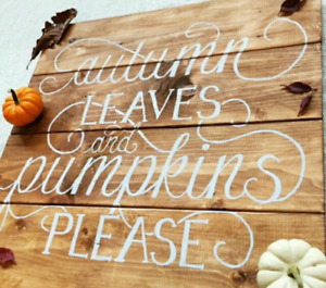 Wall decor, wooden signs, fall decor, gallery wall.
