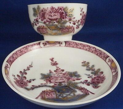 Antique 18thC Meissen Porcelain Tischchenmuster Cup & Saucer Porzellan Tasse #3