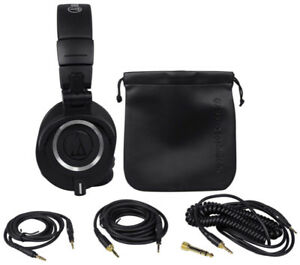 Audio Technica ATH M50x Professional Headphones Black