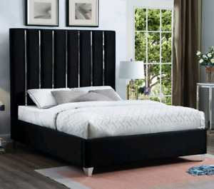 Nouveau Lit King, New King Platform Bed Black