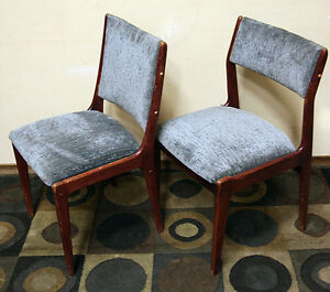 6 Mid Century Modern Teak Chairs for Restoration SEE VIDEO