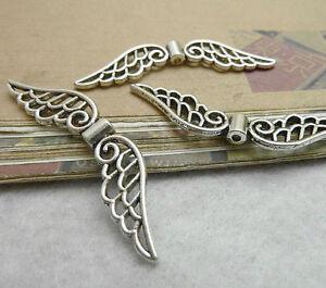 20pc Tibetan Silver Angel wings Spacer Beads Craft Jewellery Wholesale PJ179