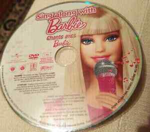 Sing along with Barbie DVD - $2