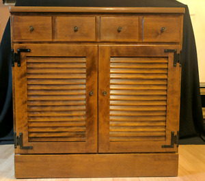 "Ethan Allen Heirloom Maple 30"" shutter door cabinet"