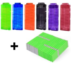 NEW Nerf Magazine 6 pack + 1000 Accustrike Darts Ammo Clip Mags
