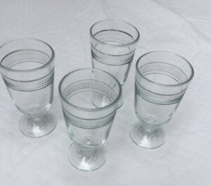 Vintage Pressed Glass Footed Tumblers