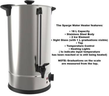 Grainfather Brand - Sparge Water Boiler - NEW RETAIL Nowra Nowra-Bomaderry Preview