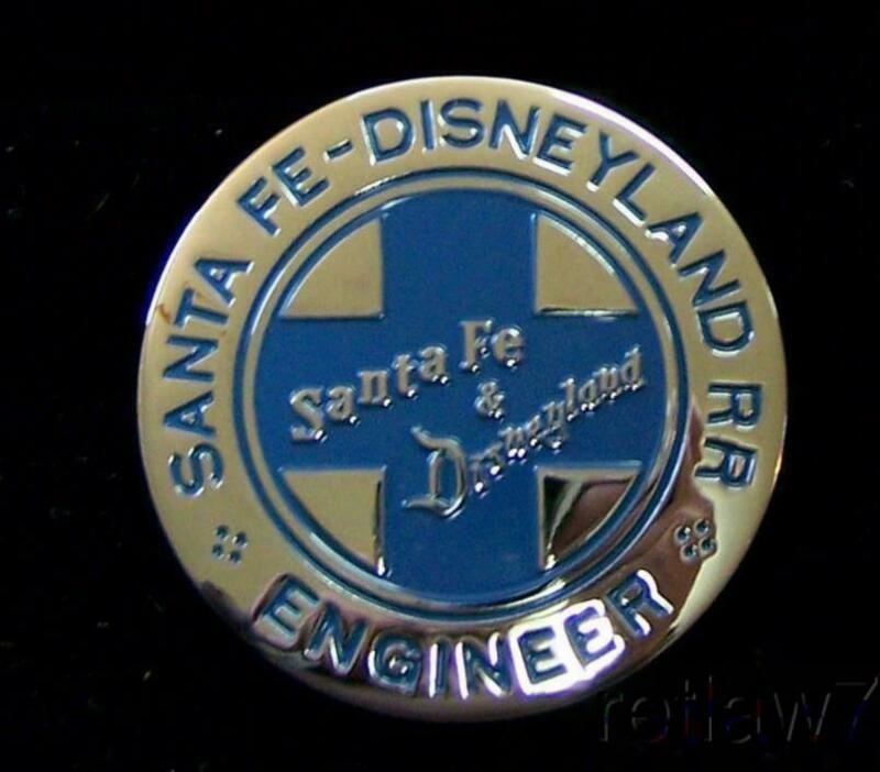~SANTA FE & DISNEYLAND RAILROAD~REPRO.ENGINEER BADGES BACK IN STOCK!~L@@K!~