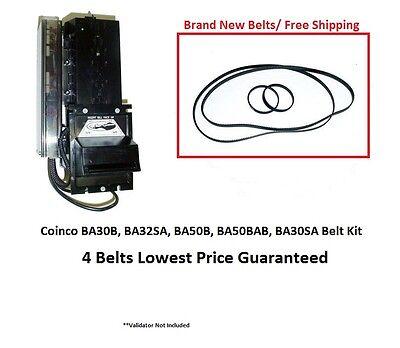 Coinco Ba30b Ba50b Ba32sa Validator Bill Acceptor Belt Kit 4 New Belts