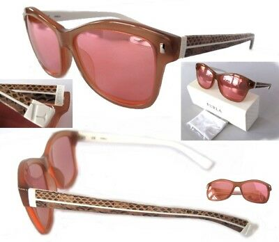 ba92dd67acf6b New Furla Candy SU4881 Brown-Snake Pink mirror Womens Sunglasses  150 -  ITALY