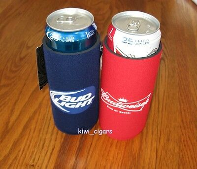 (1) Bud Light & (1) Budweiser 25oz Beer Coolie Koozie Coors Miller Lite 24 *New*