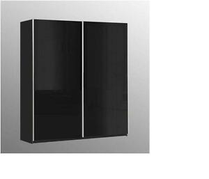 lucia black shiny gloss sliding door wardrobe slider cupboard bedroom furniture ebay. Black Bedroom Furniture Sets. Home Design Ideas