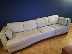 Sofa cuir blanc