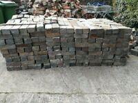 Reclaimed blue bricks