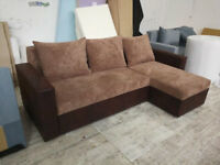 Corner sofa bed, brand new, fast delivery and free, spring, left or right side