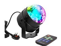 Disco Ball Lights - Remote Control - Sound Activated - Ideal for Childrens Birthdays Karaoke BBQs