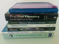 Forestry books, reference study bundle x 8, collect Isle of Skye